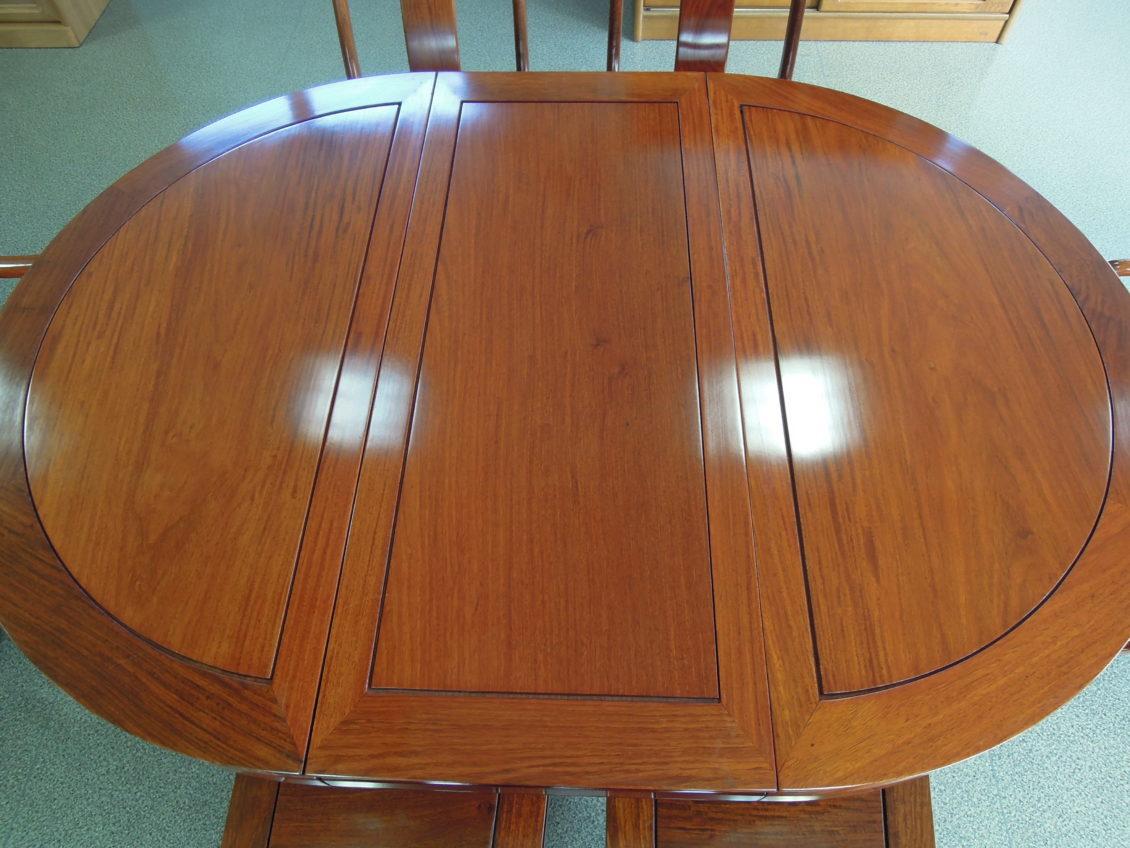 高級唐木総花梨ダイニングテーブルセット画像2